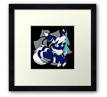 Meowstic (M) Psycho Cut Framed Print