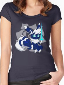 Meowstic (M) Psycho Cut Women's Fitted Scoop T-Shirt