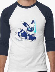 Meowstic (M) Psycho Cut Men's Baseball ¾ T-Shirt