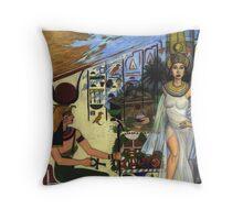 The Reemergence of Queen Nefertari Throw Pillow