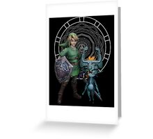 The Legend of Link and the Twilight Princess Greeting Card