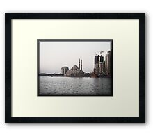 The White Mosque Framed Print