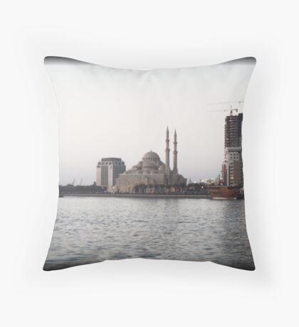 The White Mosque Throw Pillow