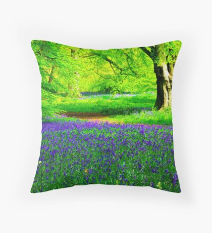 Bluebell Wood - Thorpe Perrow #2 Throw Pillow