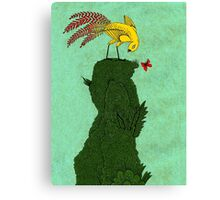 Mythical bird on Mountain top Canvas Print