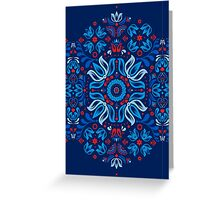 Folk Floral Tale Greeting Card