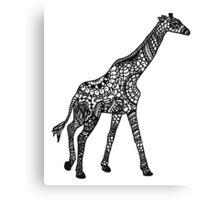 Printed Giraffe Canvas Print
