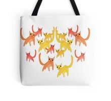 Rain Cats Tote Bag