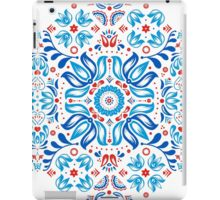 Folk Floral Tale in White iPad Case/Skin