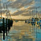 Boats at Dawn by Quentin  Croft