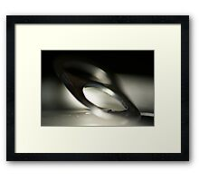 Can tab close up Framed Print