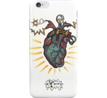 SHOCKING! The Electric Heart - COLOR VERSION iPhone Case/Skin