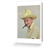 Old Man and the Cigar Greeting Card