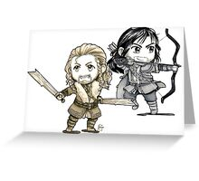 Fili and Kili Chibi Greeting Card