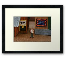 His thirst for knowledge led him to the Corona and Miller factories but neither made Bud wiser Framed Print
