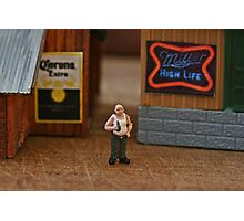 His thirst for knowledge led him to the Corona and Miller factories but neither made Bud wiser Photographic Print