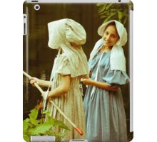 Fishing in Period Clothing at Sturbridge iPad Case/Skin