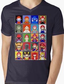 Minimal Mario Mens V-Neck T-Shirt