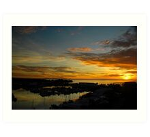 Day Ends.... Art Print