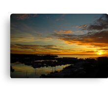 Day Ends.... Canvas Print