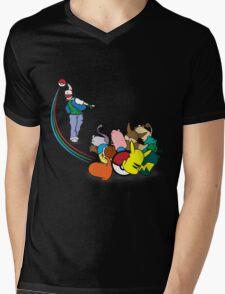 Pokebowl Mens V-Neck T-Shirt