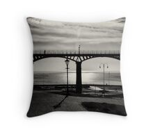 Bridge of shadows and light Throw Pillow