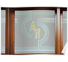 Art Deco Window Pane Poster