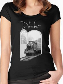 Train Through White Oak Doors Women's Fitted Scoop T-Shirt