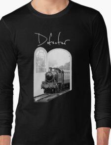 Train Through White Oak Doors Long Sleeve T-Shirt