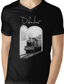 Train Through White Oak Doors Mens V-Neck T-Shirt