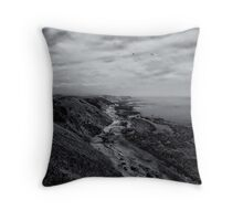 Soon to be lost to the sea's embrace Throw Pillow