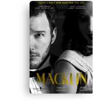 """Macklin"" poster 2 Canvas Print"