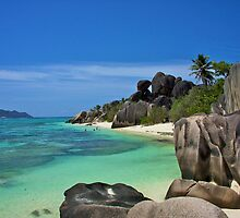 """Garden of Eden""- The Beach of LaDigue, Seychelles by Timothy Clark"