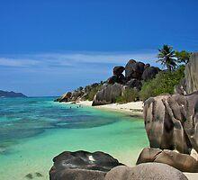 """Garden of Eden""- The Beach of LaDigue, Seychelles by Timothy Clark"