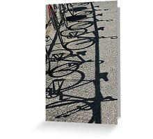 Track bikes at Edwardstown Greeting Card