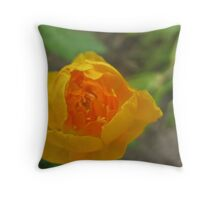 Tangy Citrus Flower Throw Pillow