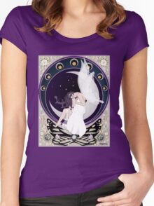 Fairy art nouveau Women's Fitted Scoop T-Shirt