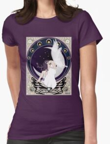 Fairy art nouveau Womens Fitted T-Shirt