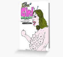 ALIEN GIRL (Comic cover) Greeting Card