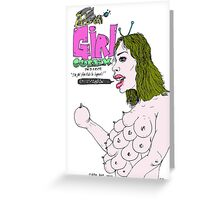 ALIEN GIRL (Comic cover) Greeting Card