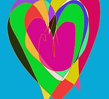 Colourful Heart by michbelladart