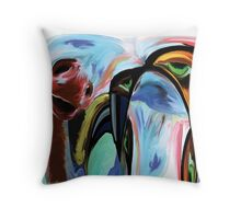 Depressed Dino - Abstract Art Throw Pillow