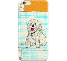White Dog on Couch iPhone Case/Skin