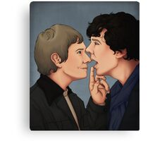 Shut up, Sherlock Canvas Print
