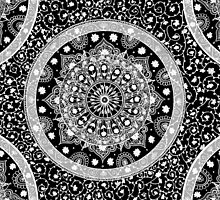 Black and White Mandala by LaurelMae