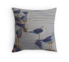 Assorted Gulls Throw Pillow