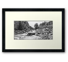 Fisherman's Panorama Colorado Canyon View BW Framed Print