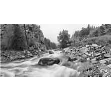 Fisherman's Panorama Colorado Canyon View BW Photographic Print