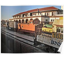 Departing Temple Texas Station  Poster