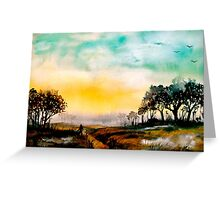 Twilight on Egdon Heath.. Greeting Card